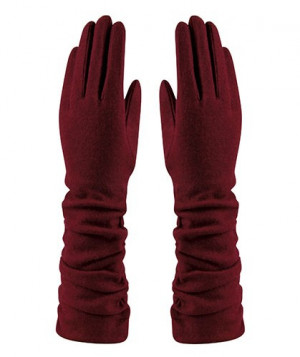 Amanda Wool Mix Glove - Burgundy