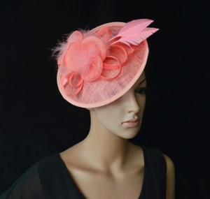 Angelica Coral Pink Fascinator
