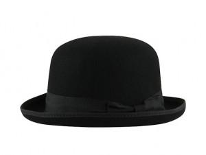 Bowler W – Wool Felt – Black