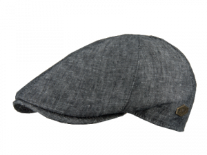 Broker 100 % Linen Black Mix flat cap