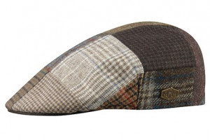 Country – 100% Wool – Patchwork Leather Brown