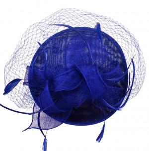 Sinamay Fascinator - Royal Blue