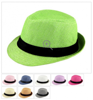 Kids' Trilby Straw Hats