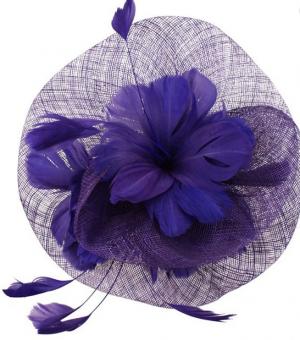 Sinamay Flower Fascinator - Purple