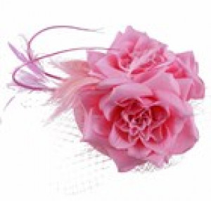 Sinamay Flower Fascinator - Pink