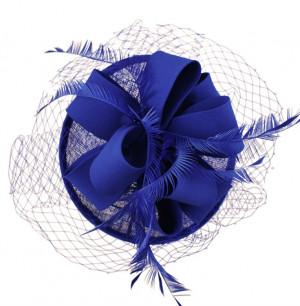 Sinamay Loop Fascinator - Royal Blue