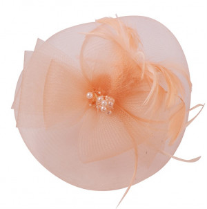 Mesh Fascinator - Peach