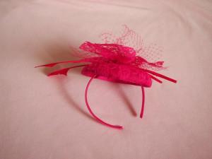 Lashka Fuschia Hot Pink Fascinator