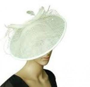 Penelope Large Ivory Hat Fascinator