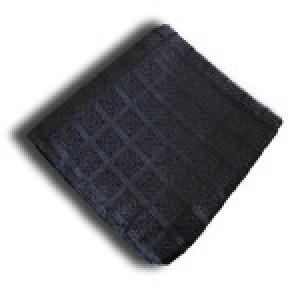 Black Check Pocket Square