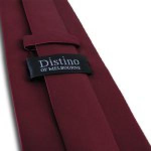 Borgogna Pianura Polyester Tie