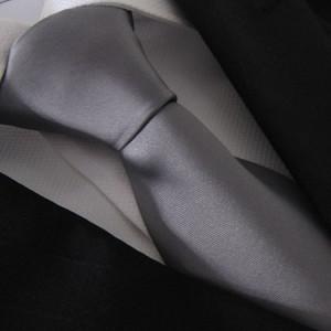 Dark Silver Pianura Polyester Tie
