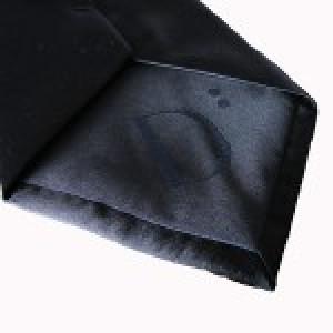 Jet Black Pianura Polyester Tie