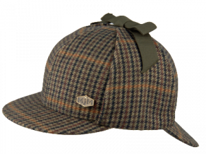 Sherlock Wool Green Check deerstalker