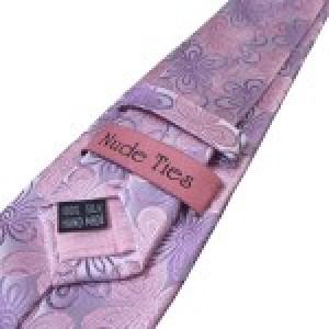 Floral Pink Slim Silk Tie