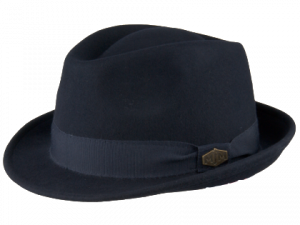 Snap Wool Felt Feodora Hat Navy