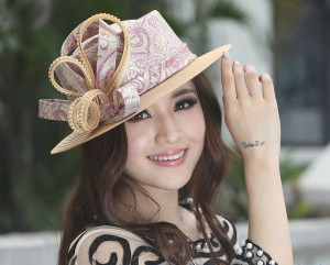 Pink and Beige Hat