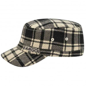 Kids' Twill Stitch Plaid Flexfit Army Cap