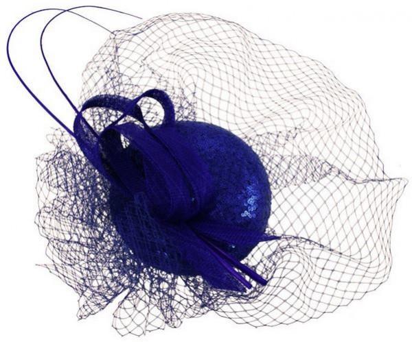 Blue Sequins Fascinator