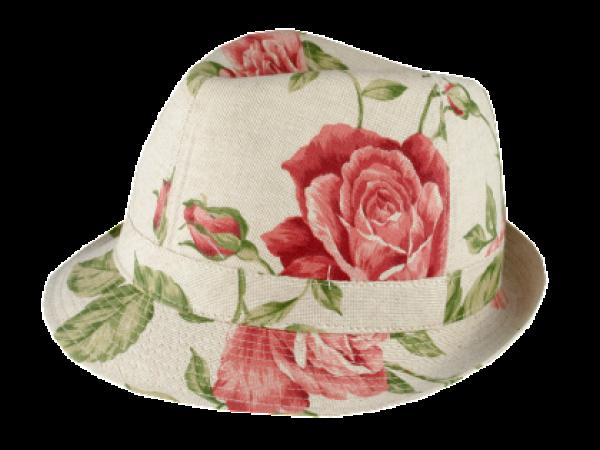 Lydia W Rose Print Hat