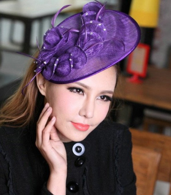 Purple Fascinator